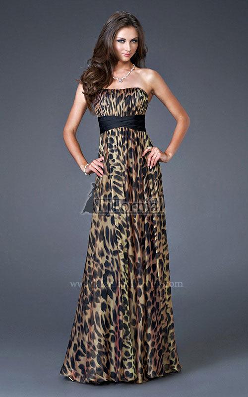 Tj formal dress blog keep it demure when wearing animal print for Zebra print wedding dress