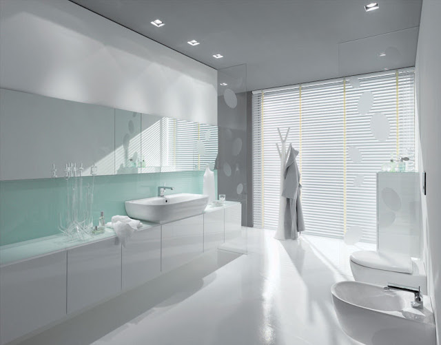 ... de bain jaune et turquoise : Salle de bain jaune et bleu Salle de bain