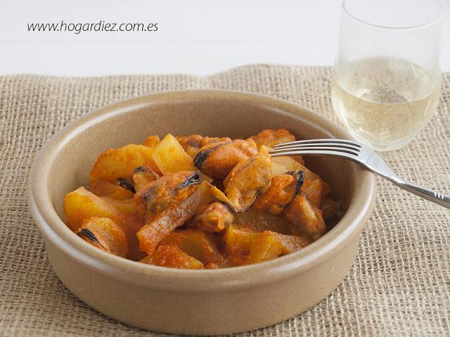 Patatas con mejillones
