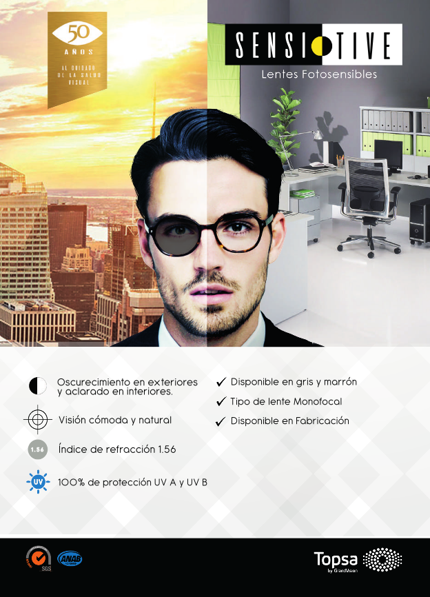 TOPSA SENSITIVE LENTES FOTOSENSIBLES