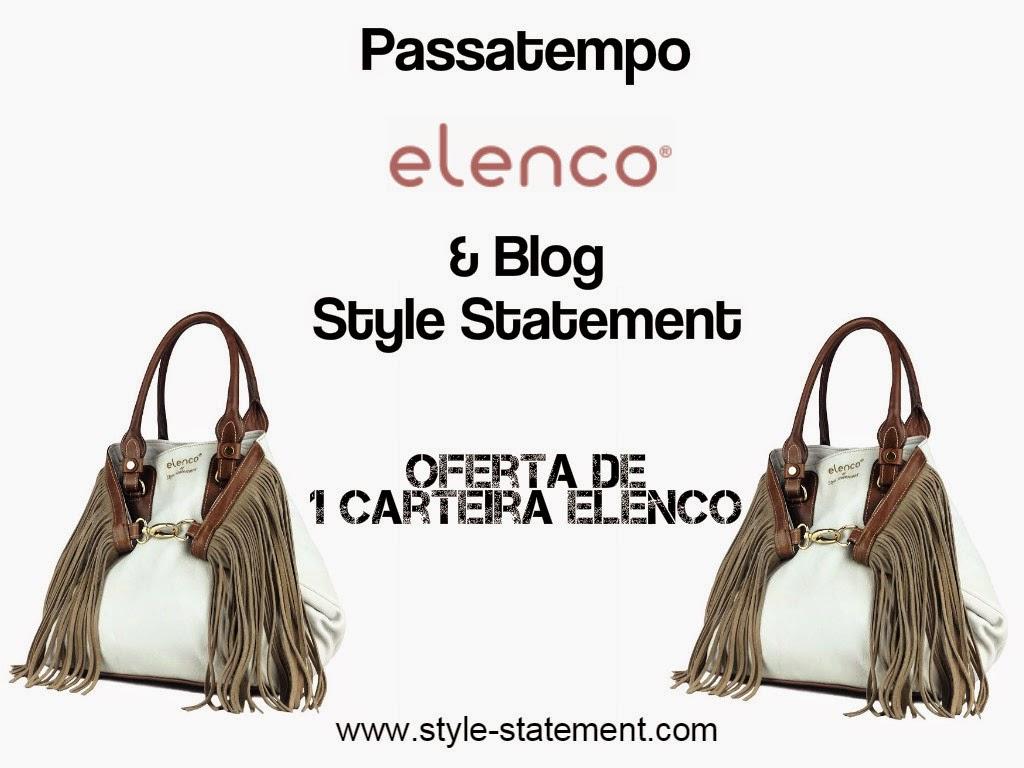 Passatempo do blog Style Statement em parceria com a Elenco. Oferta de uma carteira Elenco exclusiva com a assinatura do blog Style Statement. Cláudia Nascimento. Moda. Fashion. Trends. Giveaway.