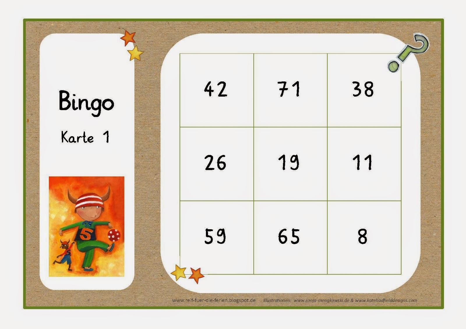 spielregeln bingo unterricht