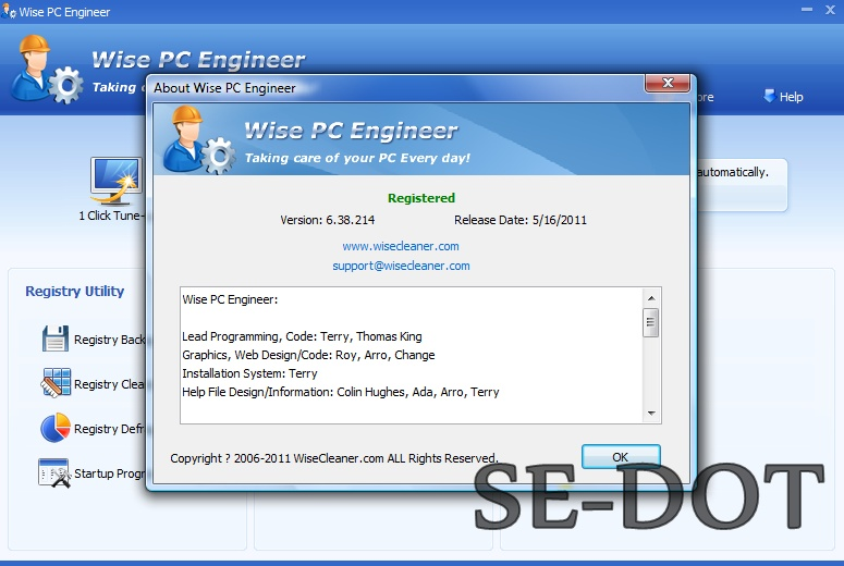 Wise pc engineer 6.31 build 206