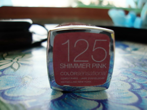Color Sensational, Lipstick, Maybelline, Reviews, shimmer pink