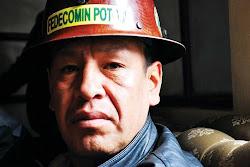 Julio Quiñones dirigente de las cooperativas mineras que explotan el Cerro Rico