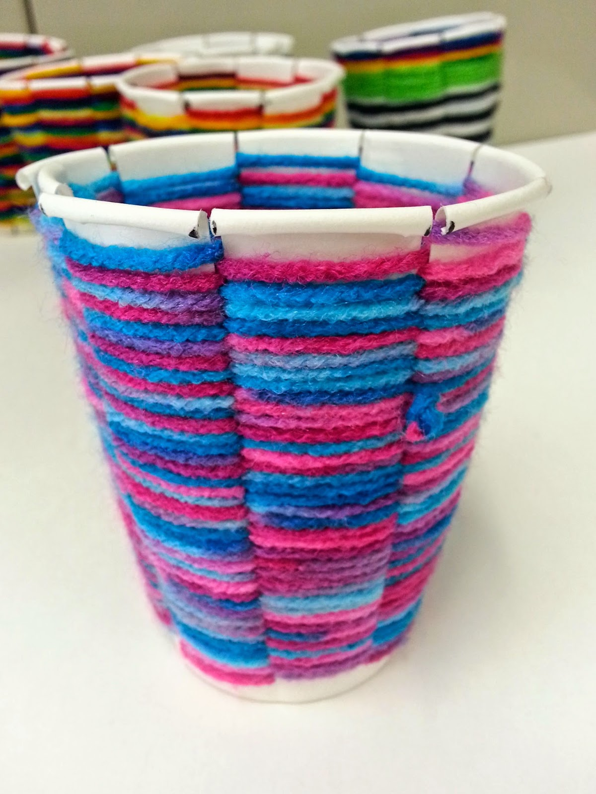 Art with mrs nguyen cup weaving 2 0 4th - Cups and kids ...