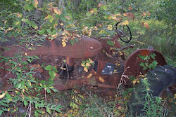 There was a lot of farm machinery left on our property.