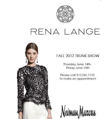 RENA LANGE trunk show