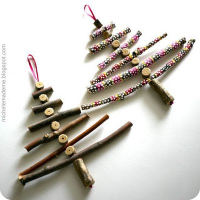 Twig Christmas Trees from Craft Gossip
