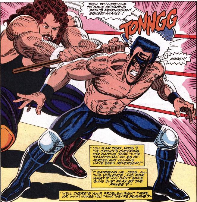 WCW Marvel Sting Cactus Jack