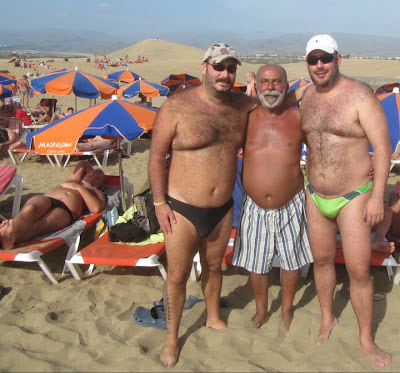 hot hairy men - daddies hairy - chubby beach