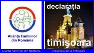 Alianța Familiilor din România 🔴 Declarația de la Timişoara - Vă rugăm semnați!
