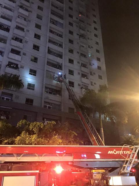 Cháy chung cư Hà Nội