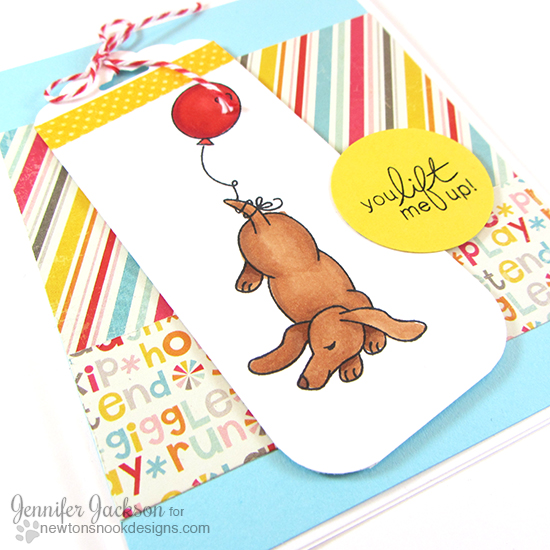 Dachshund Card by Jennifer Jackson | Delightful Doxies stamp set by Newton's Nook Designs