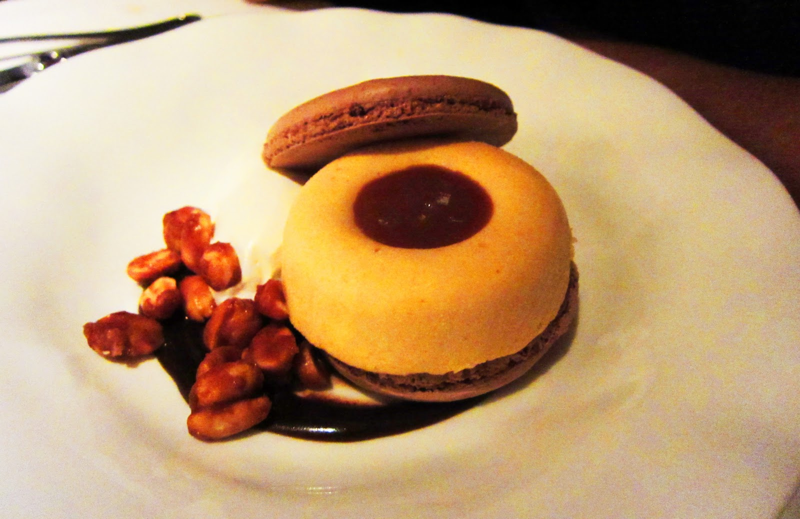 Ms. Pastry had the peanut butter semifreddo with chocolate macaron. It ...