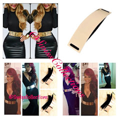 METAL PLATE GOLD MIRROR WAIST BELT