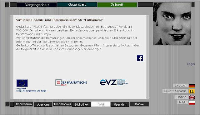 """Virtuelles Mahnmal """"GEDENKORT T4"""""""