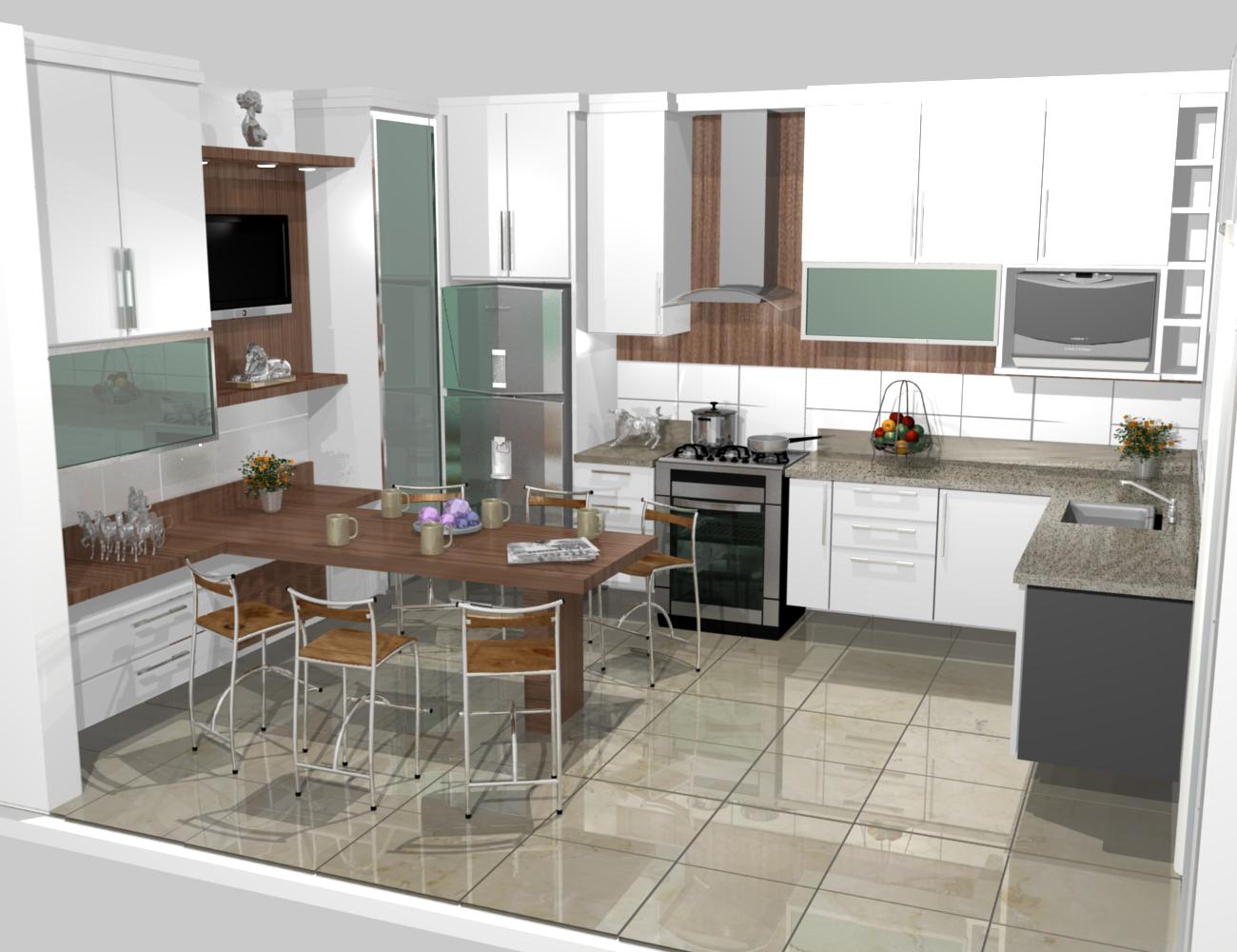 cozinha planejadas pequenas decorada americana modulada luxo moderna #644A39 1300 1000