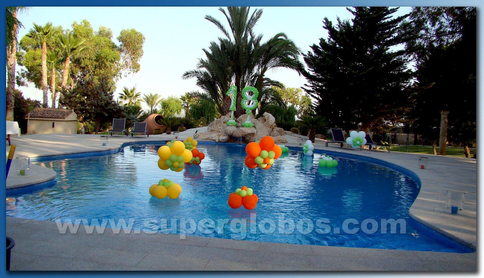 18 a os al aire libre decoraci n con globos para eventos for Ideas para cumpleanos en piscina