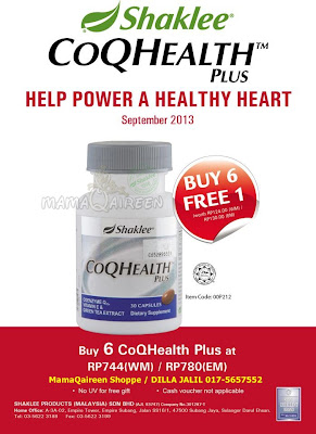 CoQHealth Shaklee, CoQ10 Shaklee, shaklee di ipoh