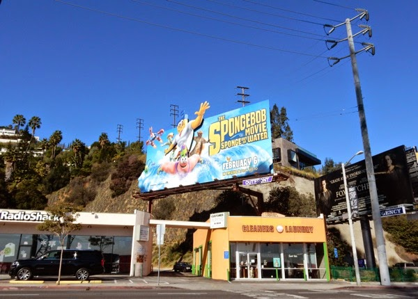 SpongeBob Movie billboard Sunset Strip