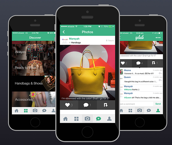 Yebab application to share photos on iPhone