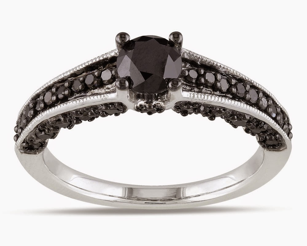 Black Diamond Silver Wedding Rings for Women Design pictures hd