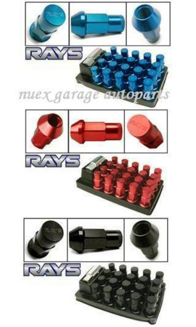 Rays nut 20pcs, red blue black