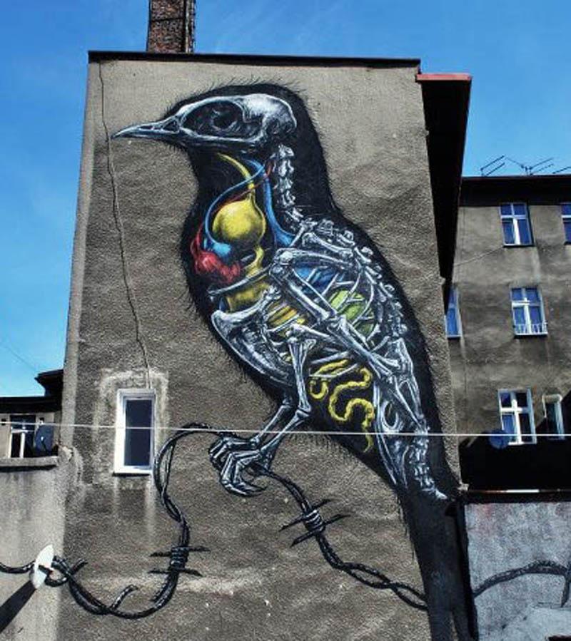 Roa New Murals In Katowice Poland Streetartnews