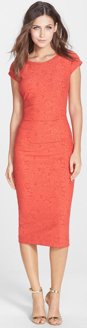 Nicole Miller 'Feliz' Knit Jacquard Cutout Body-Con Dress