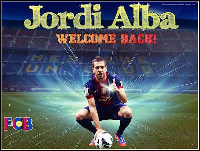 FC Barcelona - Jordi Alba 2012 Wallpapwes