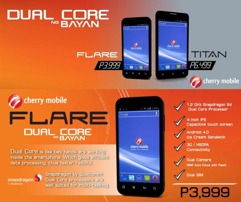 Cherry Mobile Double Dual-Core Android Phones Line up for 4th Qtr 2012
