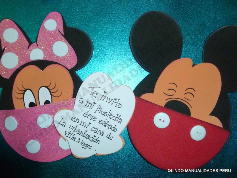 Tarjeta de Minnie y Mickey Mouse
