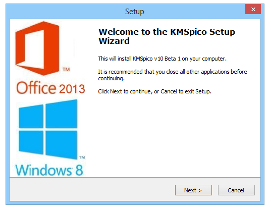 KMSpico 10 beta 1 Activator Windows Office screenshot