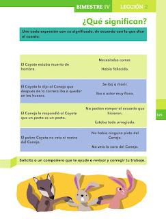 Apoyo Primaria Español 1er grado Bimestre 4 lección 2 ¿Que significan?