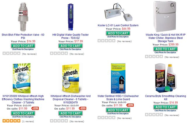Water Filters Parts and Accessories