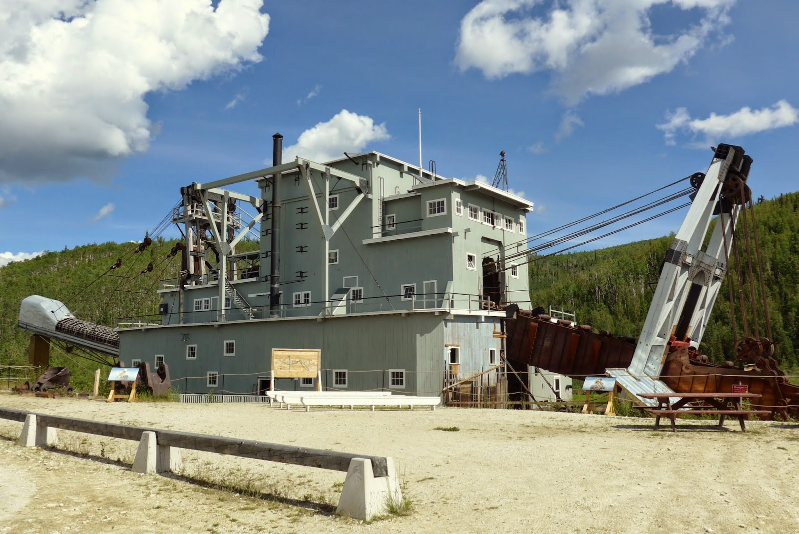 Dredge No 4, Canadian National Historic Site. It is massive.