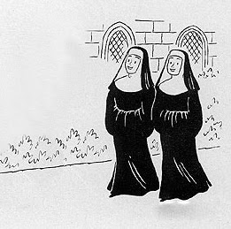Two nuns in an alley