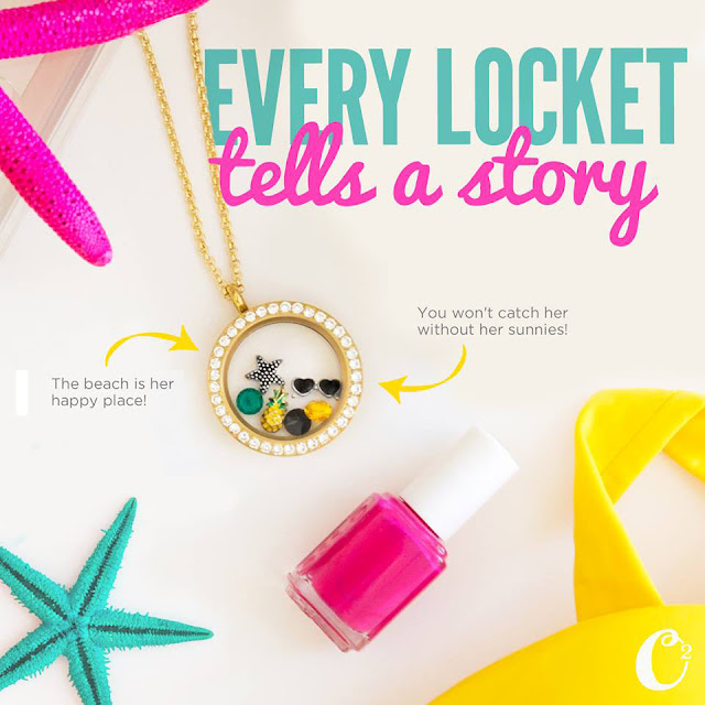 Summer Happiness Origami Owl Living Locket | Shop StoriedCharms.com to create your own story today.