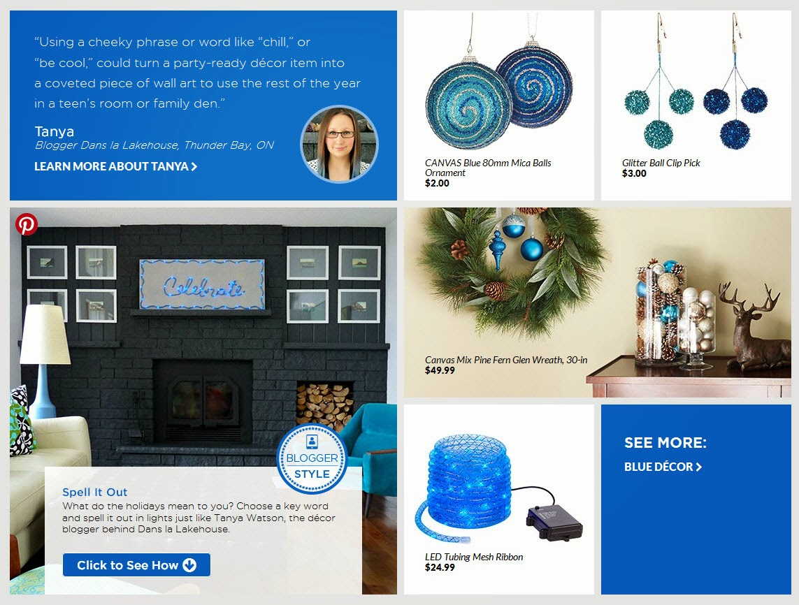 Modern holiday ideas with CANVAS