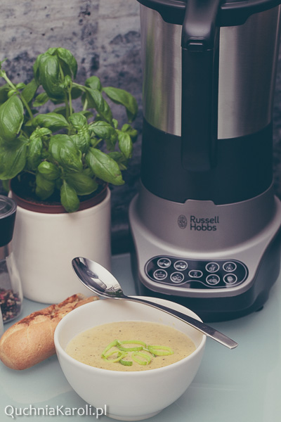 Zupowar Soup&Blend Russell Hobbs. Zupa krem z pora i ziemniaków.