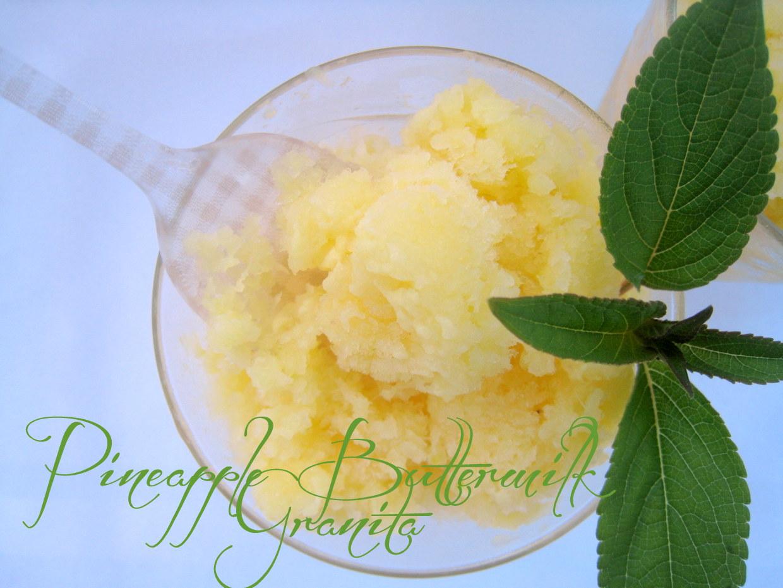 The Way to My Family's Heart: Pineapple Buttermilk Granita