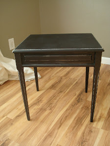 Black end table **SOLD**