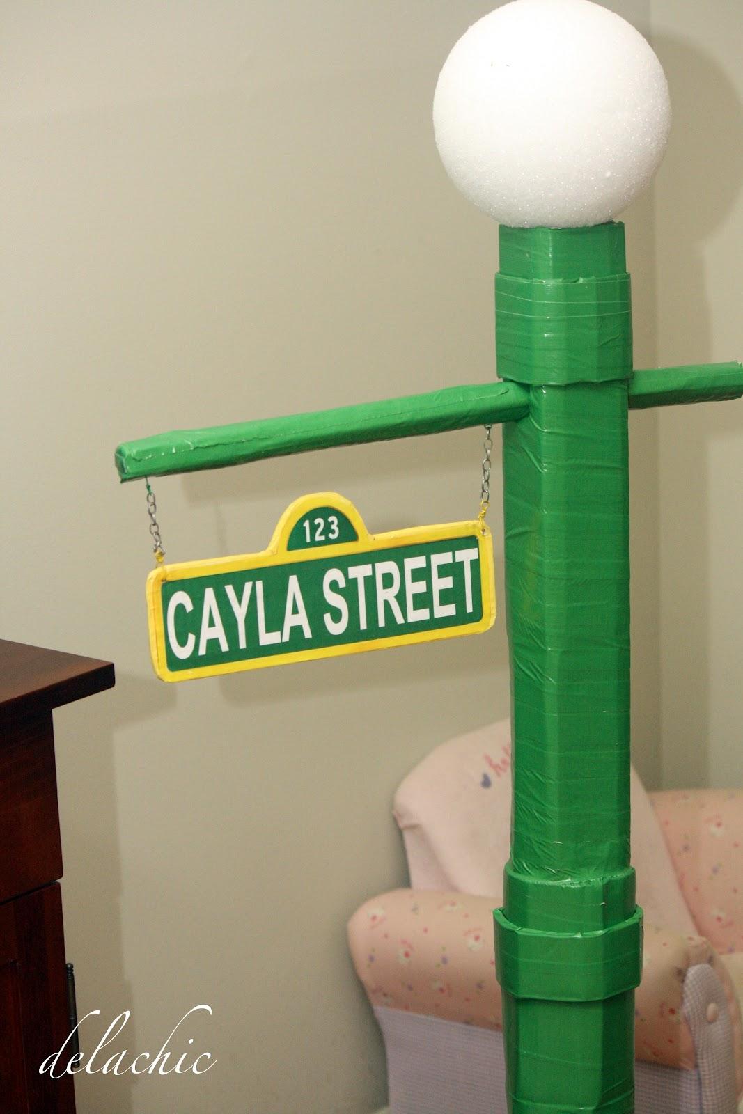 sesame street sign post submited images. Black Bedroom Furniture Sets. Home Design Ideas