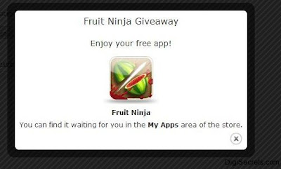 After you download signup and download the Fruit Ninja game fore free
