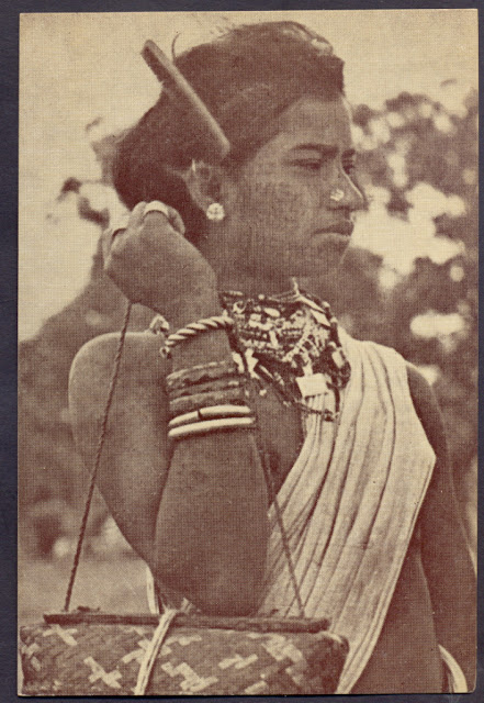 Indian+Tribal+Woman+in+Traditional+Dress+-+Undated+Photograph