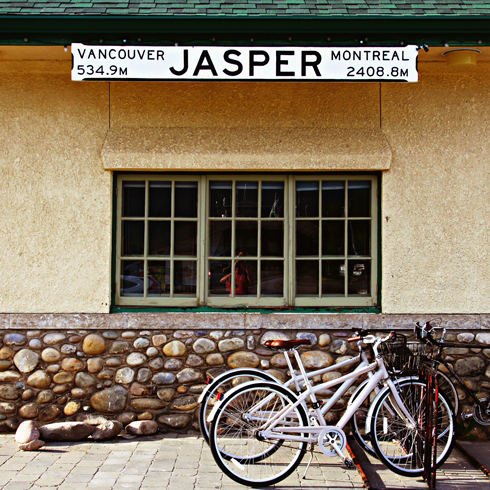 jasper train station alberta travel photography series