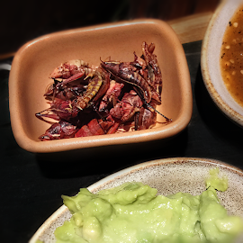 Crispy critters—fried grasshoppers (chapulines) from Bar Sótano.