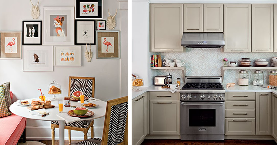 black white yellow kitchen from southern living