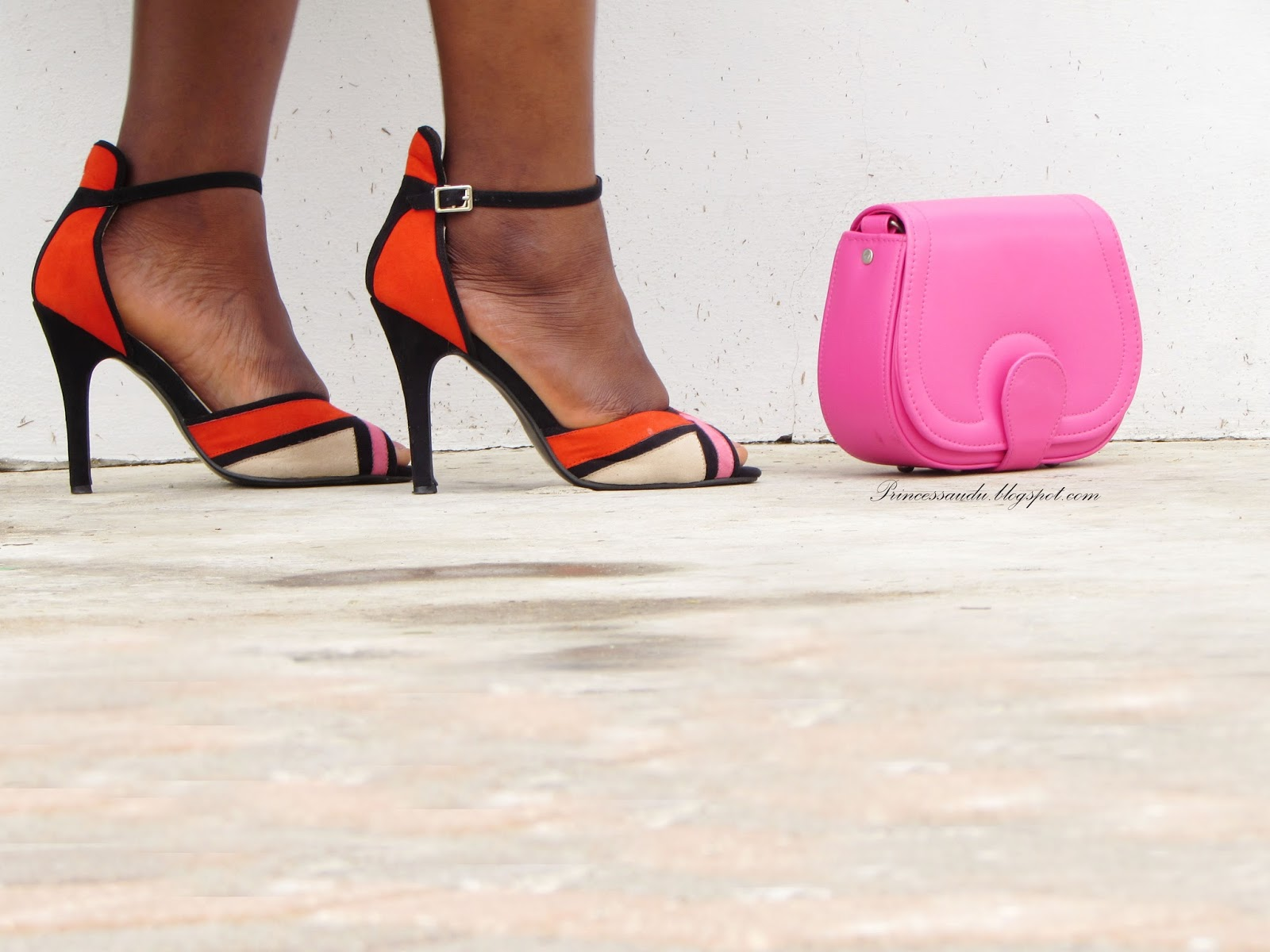 shoes, colour blocking, ankle strap heels,